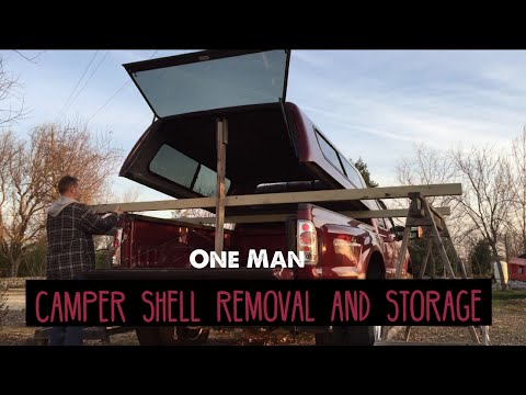 Remove Your Camper Shell Canopy by Yourself. DIY Easy Storage Rack