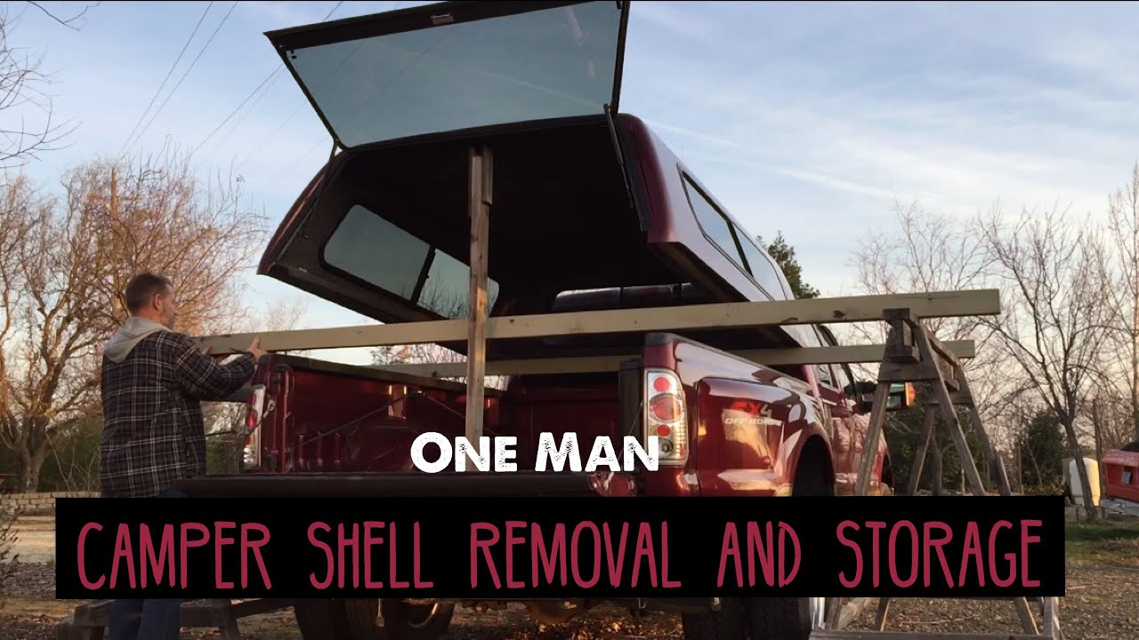 Remove Your Camper Shell Canopy By Yourself Diy Easy Storage Rack