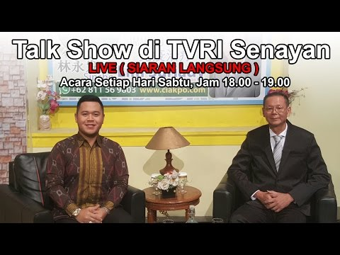 Talk Show 08-10-2016  Sinshe Lim CIAKPO di TVRI Senayan Jakarta