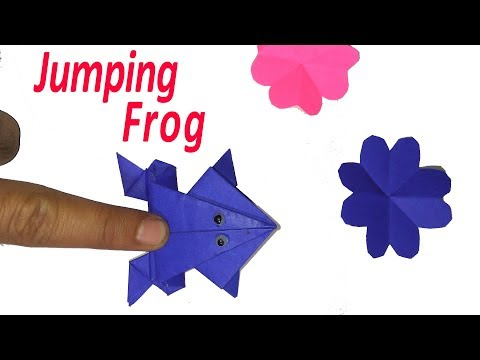 JUMPING FROG PAPER ART CRAFTING PAPER AND CREATIVITY