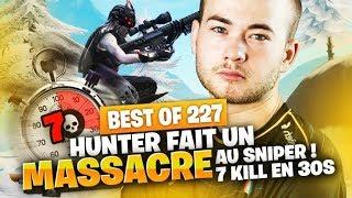BEST OF SOLARY FORTNITE #227 ► HUNTER FAIT UN MASSACRE AU SNIPER ! 7 KILL EN 30S