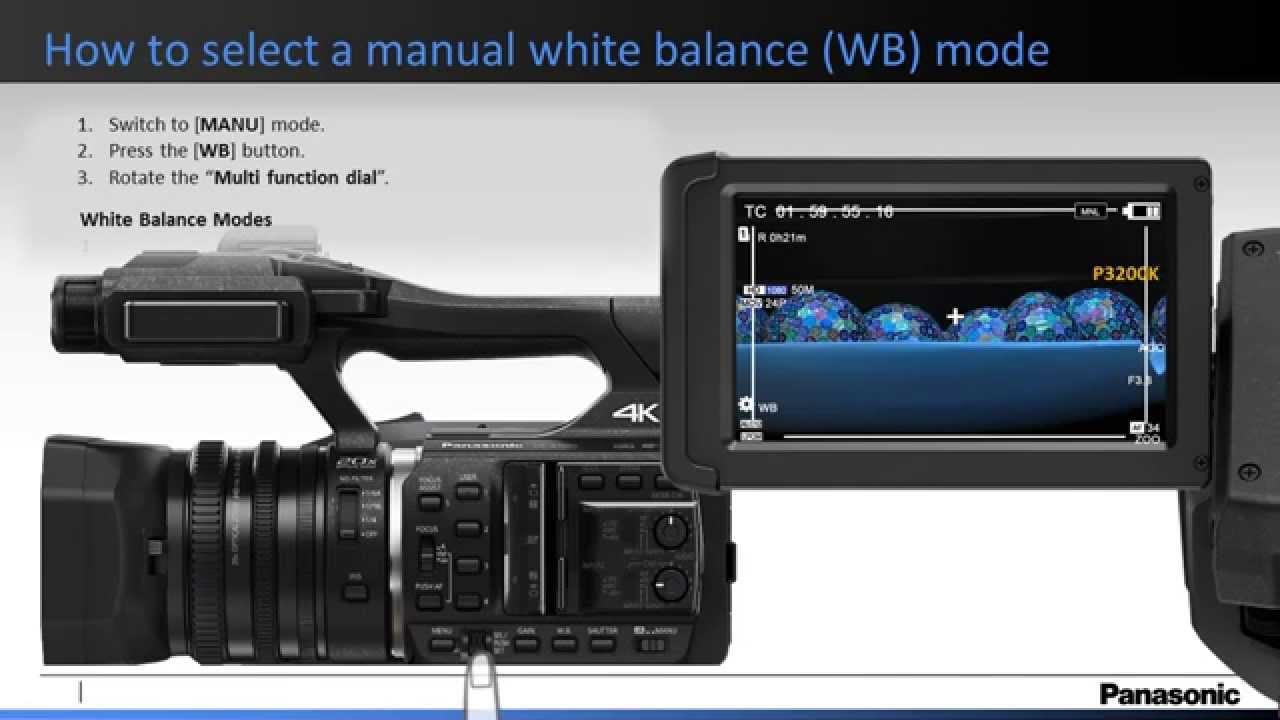 panasonic how to set the manual wb white balance on the hc x1000 rh youtube com panasonic g5 manual video control panasonic m10 video camera manual