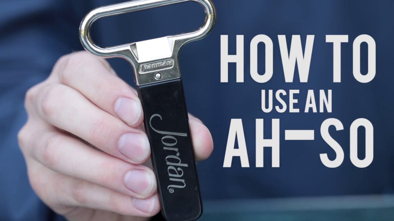 How To Open A Wine Bottle With An Ah So Wine Opener Cork Puller Video Demonstration Youtube