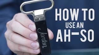 How to Open a Wine Bottle with an Ah-So Wine Opener | Cork Puller Video Demonstration
