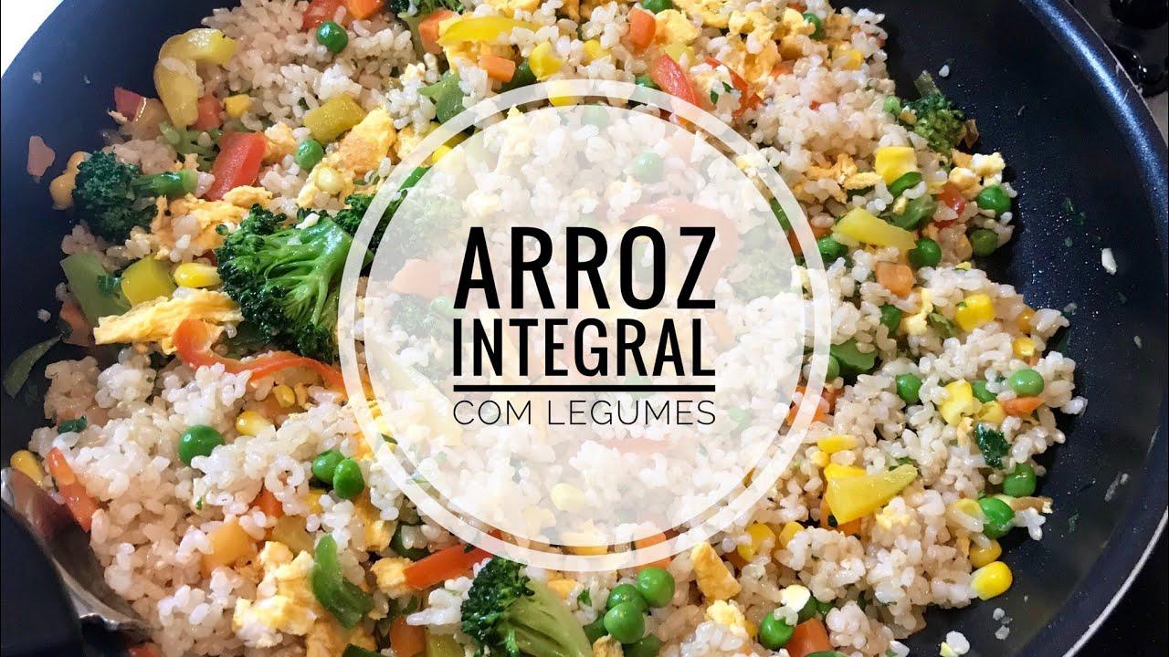 Arroz integral com legumes