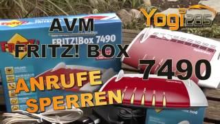 AVM FRITZ! Box 7490: Anrufe sperren (nach Rufnummer, Uhrzeit, etc)