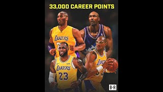 LeBron James Joins Kobe, Malone and Kareem as Only Players to Score 33k Points