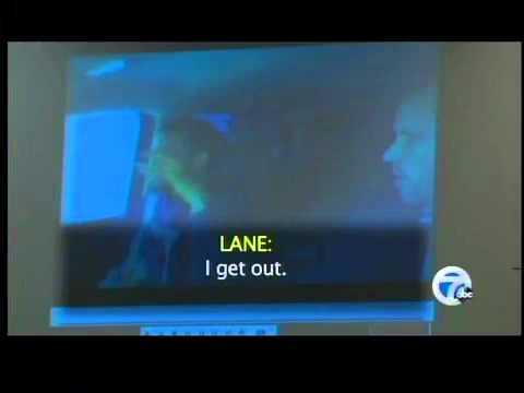 Jury sees videotape in Lane murder trial
