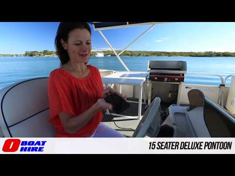 O Boat Hire - 15 Seater Deluxe Pontoon