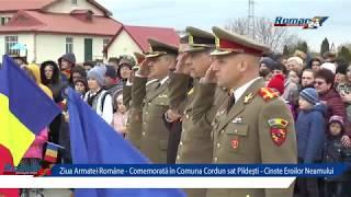Ziua Armatei Române - Comemorată în Comuna Cordun sat Pildești - Cinste Eroilor Neamului