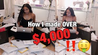 ENTREPRENEUR LIFE: How I Made OVER $4,000 🤑💰 During the Pandemic!