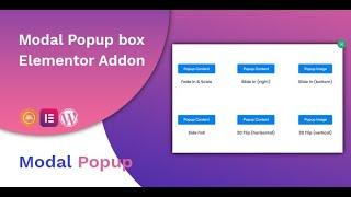 Modal Popup box Elementor Addon - YouTube
