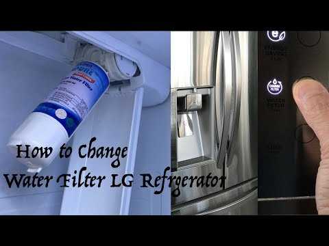 How To Replace Water Filter On LG Refrigerator - How To Reset Change Filter Indicator Light