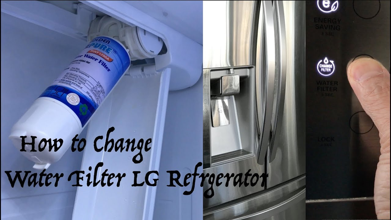 How To Replace Water Filter On Lg Refrigerator How To