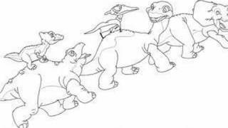 The Land Before Time in Microsoft Paint