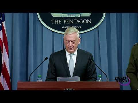 Mattis Explains Strikes on Syria