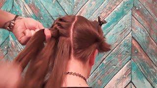 ASMR Real Person Hair Brushing & Braiding.