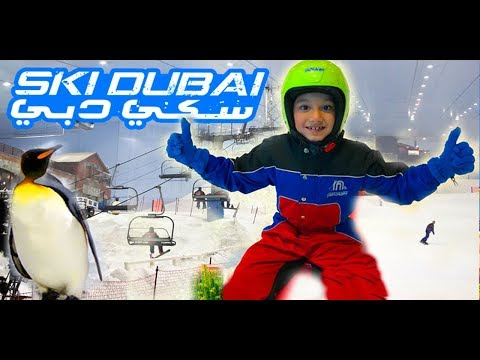 SKI DUBAI FUN | Playing In Amazing Artificial Real Snow | Real Penguin Experience | Super Fun