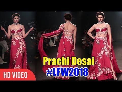 Prachi Desai Ramp Walk at Lakme Fashion Week 2018