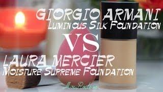 Обзор тональных кремов: GIORGIO ARMANI VS LAURA MERCIER #Виктория Ро