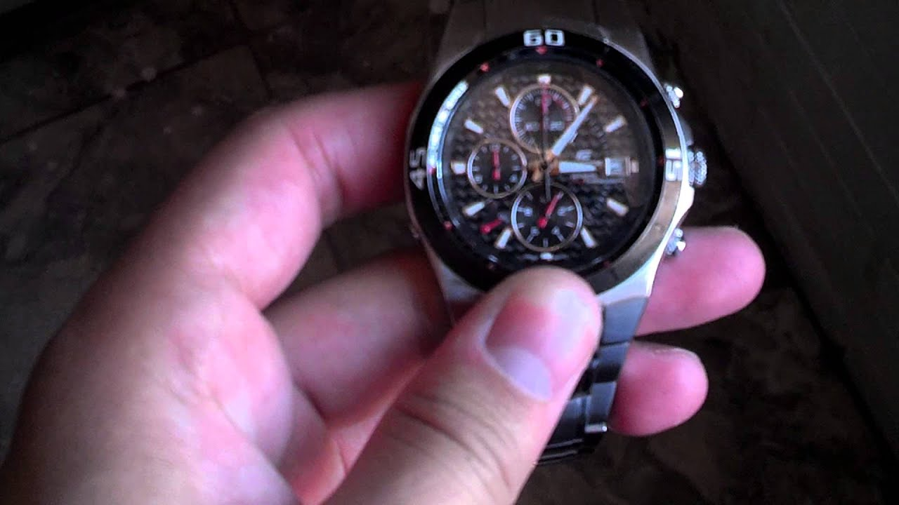 ac06a984c963 casio edifice ef 514 - YouTube