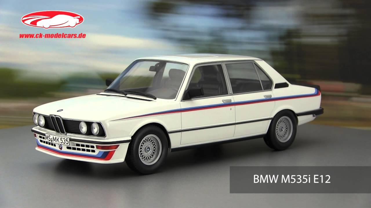 ck-modelcars-video: BMW M535i E12 Baujahr 1980 weiß Norev - YouTube