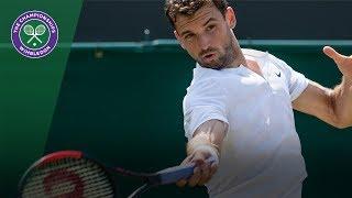 Grigor Dimitrov v Marcos Baghdatis highlights - Wimbledon 2017 second round