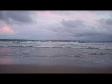 Praia do Atalaia Aracajú SE ao entardecer.