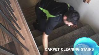 CARPET CLEANING Red Deer AB. HOW TO CLEAN CARPET ON STAIRS!!
