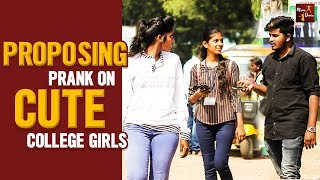 Proposing Prank On Cute Girls || Funny Pranks In Telugu || Mana Dunia