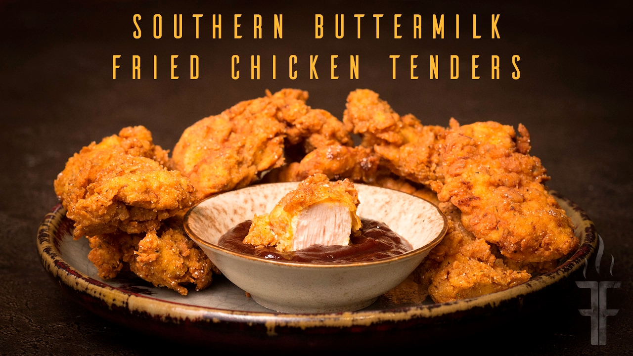 Southern fried buttermilk chicken strips