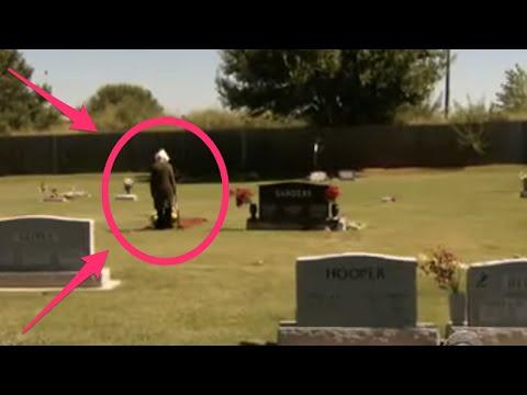 Mujer visita tumba de su marido y ocurre lo inesperado.