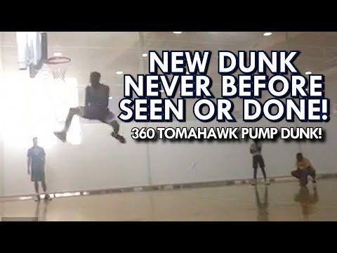 NEW DUNK NEVER BEFORE SEEN OR DONE! 360 TOMAHAWK PUMP by JOE KILGORE (COLLEGE DUNK CHAMPION)