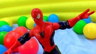 Человек Паук и Мстители – Игры для супергероев! – Видео с игрушками.