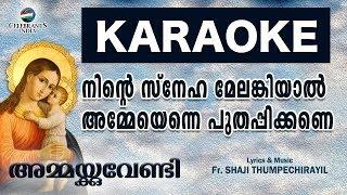 NINTE SNEHA MELANKIYAL Karaoke With Lyrics | Ammakkuvendy | Marian | Fr. Shaji Thumpechirayil