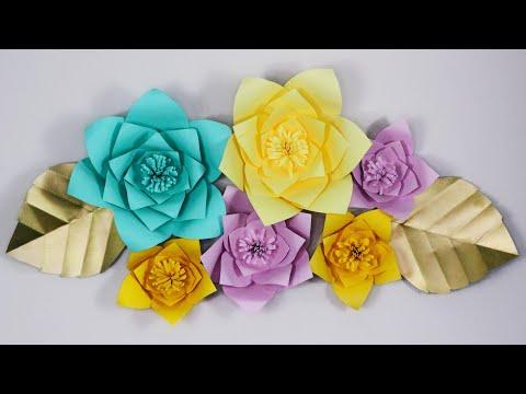 DIY GIANT PAPER FLOWERS! | Easy Step By Step Tutorial