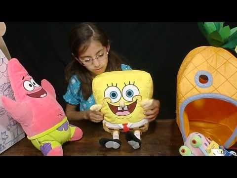 Spongebob Square Pants & Patrick at Build A Bear review! - kid toy testers