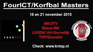 FourICT/Korfbal Masters; zaterdag 21 november 2015. De Finale