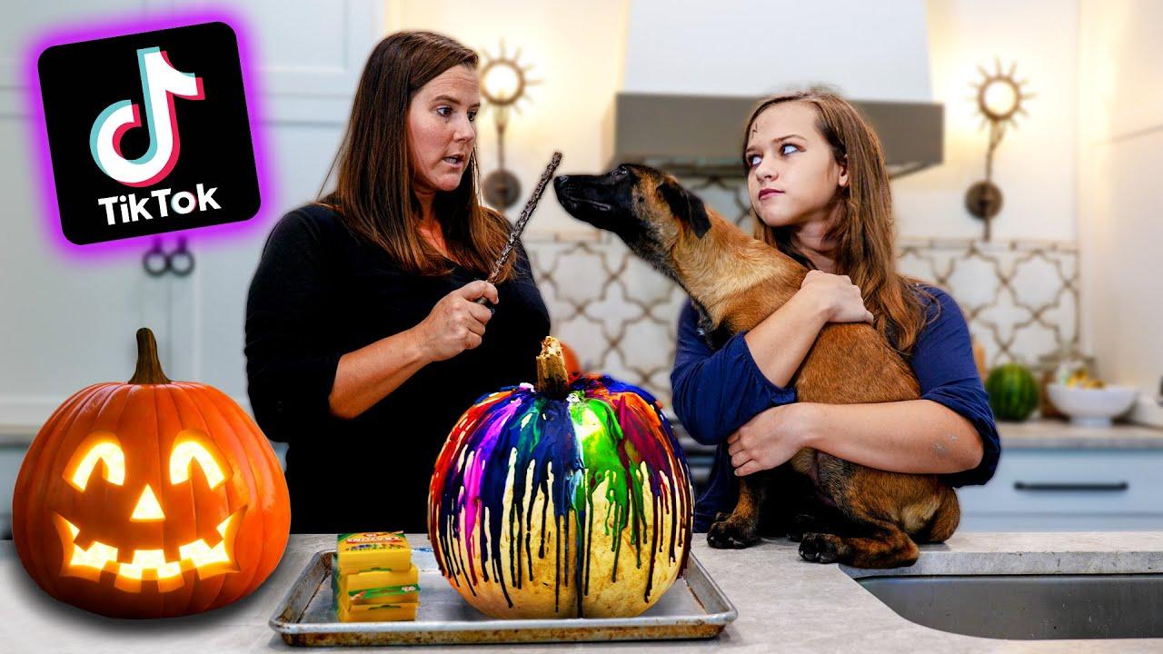 Testing 5 Viral Halloween TikTok Hacks!!
