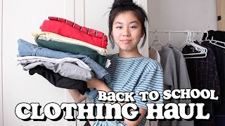 back to school try-on clothing haul 2018