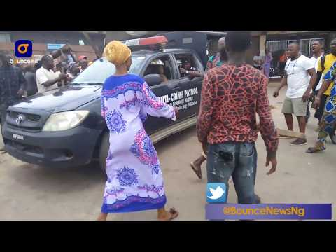 See The Moment UI Students Caught A Suspected Kidnapper In Ibadan