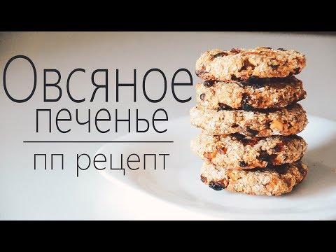 рецепт пп печенья   овсяное печенье без муки