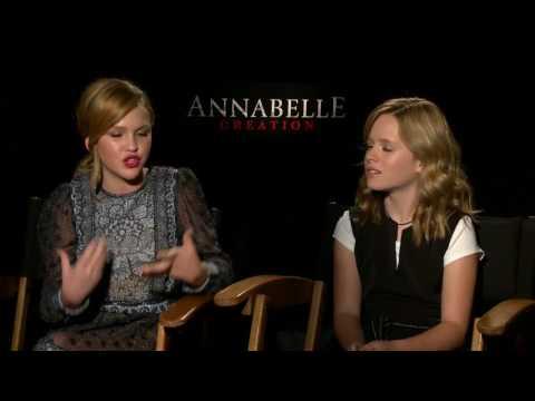 Annabelle Creation Full Interview Talitha Bateman and Lulu Wilson