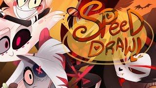 SPEED DRAW- Hazbin Halloween- VivziePop