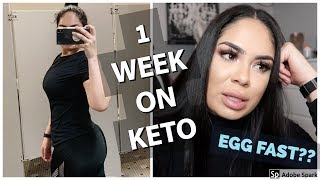 Starting Keto, 3 day egg fast work? || WEIGHT LOSS VLOG #1