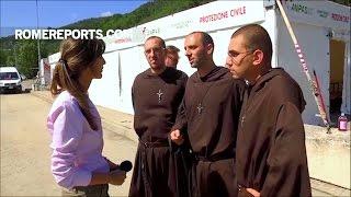 Ba thầy dòng Phan Sinh mang đến hy vọng và ủi an cho các nạn nhân của trận động đất ở Ý