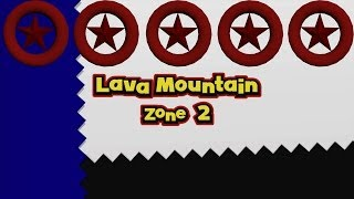 Sonic Lost World - Lava Mountain Zone 2 - All Red Star Rings