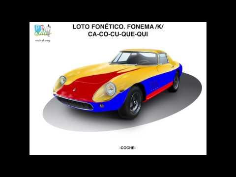 LOTO FONÉTICO FONEMA /K/ CA-CO-CU-QUE-QUI INICIAL