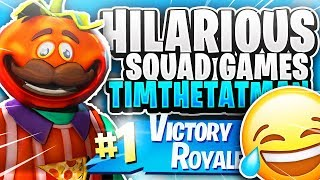 HILARIOUS Squad Games with Timthetatman! Fortnite Battle Royale