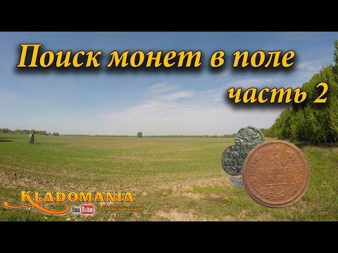 Поиск монет в поле часть 2. Поиск по старине.